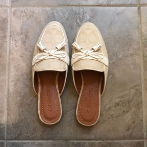 Coach Stassi Light Khaki Loafer Slides